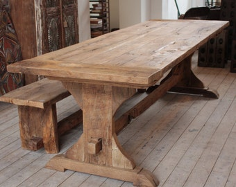 Reclaimed dining table | Etsy UK