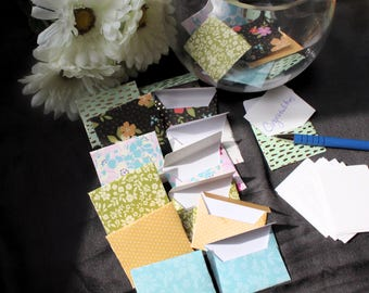 Assorted Mini envelopes, Set of 10, Mini envelopes with inserts, Paper ephemera, Paper embellishments, Journaling, Project Life,Guestbook
