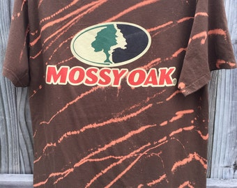 ON SALE   Mossy Oak Distressed T Shirt   Size L