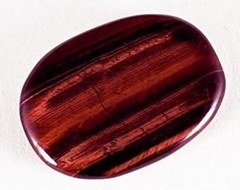 Red Tigers Eye Palmstone, Reiki Healing Crystal, Motivating & Energising
