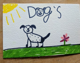 Happy Dog Postcard - Proceeds go to an Animal Shelter!