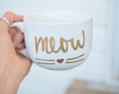 Meow Mug, Cat Mug, Cat Lo...