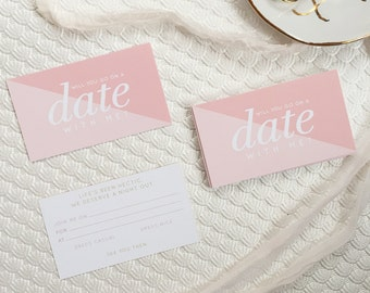 Date Night Mini Cards (pack of 20) - Mini Notecards - Parent's Night Out - Feminine and Modern Stationery
