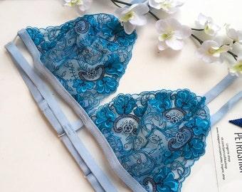 Ocean blue bralette