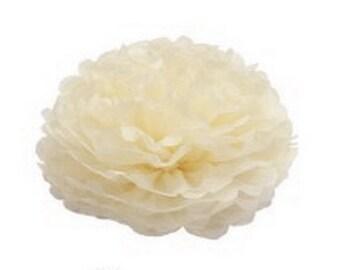 Ivory Tissue Pom Pom | birthday party | retirement | engagement | wedding decor | nursery decor | baby shower | party decorations