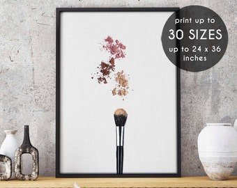 Makeup Brush, Makeup print, makeup art, fashion print, makeup, makeup wall art, beauty print, makeup decor, wall art,vanity,printable art, 7