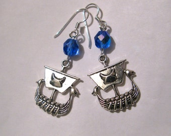 Here They Come Again - earrings - Viking boat - I can hear that dang song again