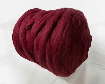 Chunky yarn. Giant yarn. Super bulky yarns 100% Merino Wool. Huge skein of super chunky yarn. The thickest yarn. Giant yarn by woolexperts