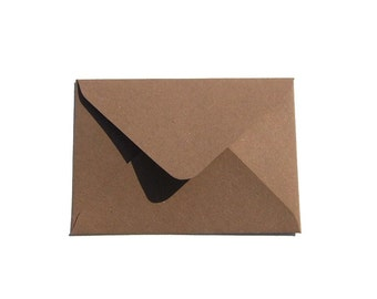 Envelope Card Envelope Package Brown Gift Coupon Packaging Invitation Envelope Pack