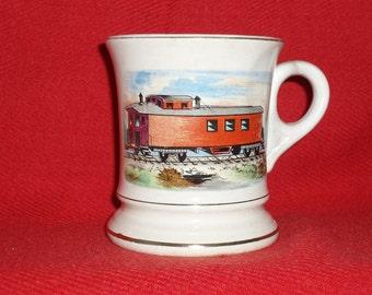 ANTIQUE TRAIN MUSTACHE Cup