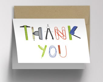 Co-Worker Appreciation Thank You Card, Employee Appreciation Day, Employee Morale, Thank You Card for Her, Thank You Card for Him