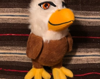 Rare Vintage Stuffed Eagle / Western Federal Savings and Loan Vintage Promotional Stuffed Eagle / Vintage Stuffed Animal / Eagles