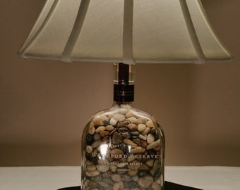 Whiskey Bottle Lamp Etsy