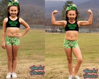 Pinch At Your Own Risk - Wacki Set - Awesome St. Patrick's Day Bra, Bow and Wacki shorts Set