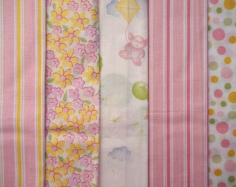 It's a Spring Thing - Baby Girl - Quarter Yard Bundle - 5 pieces