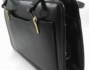 Vintage black top handle bag