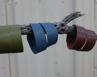 Leather Bracelets - Cuff Bracelets - Brass Snap