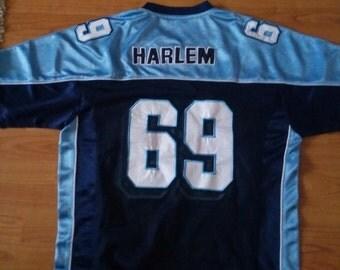 HARLEM jersey, New York t-shirt vintage NYC shirt 90s hip-hop clothing, old school streetwear 1990s hip hop, gangsta rap, Fubu size M Medium