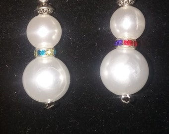 snow men earrings