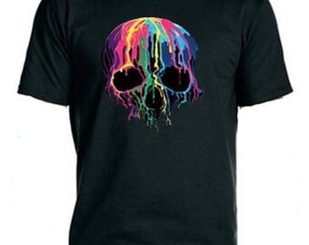 Melting Skull  NeonTee-Shirt