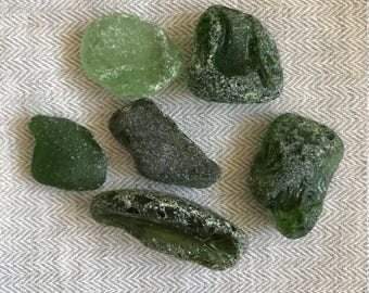 5 pieces of sea glass sea medium size