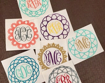 Two Color Monogram decals