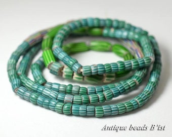 Strand of antique 4 layers small size green chevron beads 【free shipping】【HB16039】