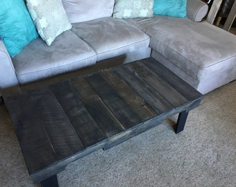 Black Wooden Pallet Coffee Table