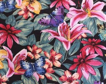 Ladies Floral Apron with butterflies, Women's Apron, Teenagers Apron, Kitchen Apron, Hostess Apron, Chefs Apron, Mothers Apron