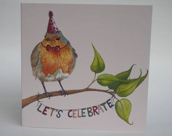 "Greeting card ""Let's celebrate"""