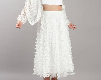 3-D flowers - wedding - wedding skirt