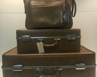 3 piece set vintage Invicta luggage *FREE SHIPPING*