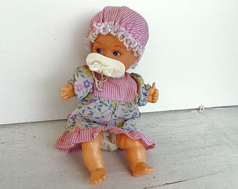 Crying doll with pacifier  laughing doll toy battery operated doll moody baby doll fabric doll baby doll toy vintage 1998