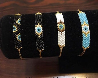 Evil Eye Bracelets, Gold 24k Bracelets, Evil Eye Jewelry, Dainty Evil Eye Charm, Delicate Evil Eye Bracelet Gold.Everyday Bracelet.