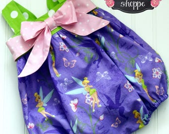 Romper - Tinkerbell Romper **NOTE** Add With or Without Snaps