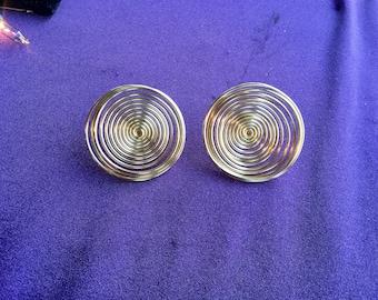 Gold goddess Swirl earrings