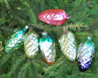 House gift Vintage pine cones Christmas ornament glass ornament tree woodland ornaments rustic Holiday Decor country christmas home decor