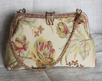 20cm Kiss lock purse, Purses & handbag, Cosmetic bag, clutch bag, Metal frame purse  K1622