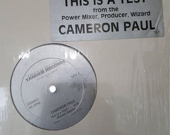 Cameron Paul Power Remix This isna Test 12 inch Single