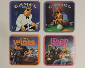 Coasters Camel Lights Set of 4 in Box Vintage 90's