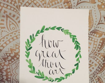 How Great Thou Art - painting