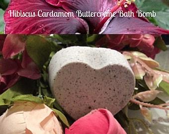 Love and Shea Hibiscus Cardamom  Buttercreme Bath Bomb - Bathbomb - Zen- Aromatherapy - Stockin Stuffer - Gifts for her