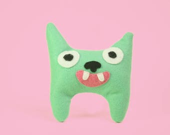 Minty the Pointy Smiley Monster Stuffed Animal