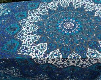 Mandala Tapestry,  Beach blanket, Bohemian Decor, Boho tablecloth, Boho decor, tapestry, Boho dorm, Mandala bedding, wall tapestries