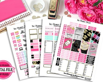 Chanel // Designer Inspired // Happy Planner // Printable Planner Stickers