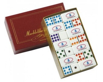 Customizeable Professional Size Double 9 Dominoes