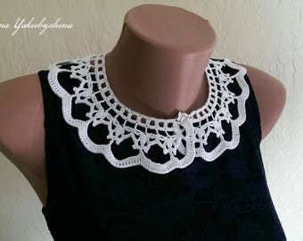 Collar crochet Lace collar dress Accessories Crochet neck accessory Crochet necklace Beautiful collarlace Romantic collar