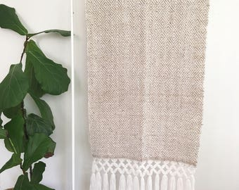Handwoven Throw with Fringe from Guatemala