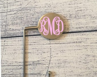Personalized Monogrammed Silver Table Purse Hook