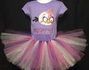 Angry Birds Birthday Shirt, Girls Angry Birds Outfit, Pink Angry Bird, Angry bird Birthday Party, Pink Angry Bird Outfit, Pink Bird Shirt